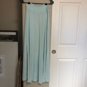 Renee C. Maxi blue skirt
